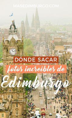 Dónde sacar las mejores fotos de Edimburgo. 15 ideas para conseguir fotos emblemáticas. #Edimburgo Time Travel, Places To Travel, Places To Visit, Edinburgh Scotland, Scotland Travel, Glasgow, I Want To Travel, Travel Guide, United Kingdom