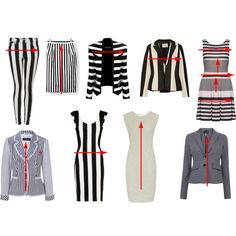 Fences or Ladders: some horizontal stripes carry the eye up & down (Creating a thinner taller visual) & some vertical stripes carry the eye across (creating a wider/shorter look) Wardrobe Basics, Capsule Wardrobe, Op Art, Fashion Advice, Fashion Outfits, Stylish Outfits, Fall Outfits, Inside Out Style, Style Challenge