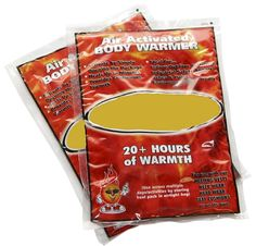 The Playa can get pretty cold at night and these body warmers heat up in just minutes. They last for hours and heat up to 150 degrees with an average temperature of 130 degrees. Place within your sleeping bag or under clothing for optimal results. Survival Shelter, Wilderness Survival, Survival Prepping, Emergency Preparedness, Survival Gear, Survival Skills, Outdoor Survival, Survival Supplies, Survival Tattoo