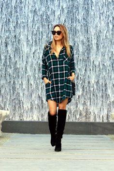 Plaid Shirt Outfits Ideas (3)
