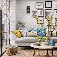 Gray And Blue Living Room Gray Blue Yellow Living Room Blue And Yellow Living Room Unique Best Blue Living Room Sofas Ideas On Blue Gray Living Room Wall Decorations Living Room Pillows, Home Living Room, Living Room Color Schemes, Living Room Designs, Colour Schemes, Living Room Decor Grey And Blue, Blue And Mustard Living Room, Deco Champetre, Room Colors