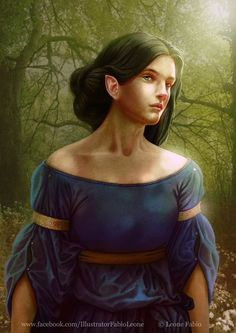 """Inspired by John Ronald Reuel Tolkien's book """"The Silmarillion"""" Luthien's gaze Fantasy Paintings, Fantasy Art, Luthien, Tolkien Books, Character Sketches, Character Art, Wattpad, Artwork Images, Book Characters"""