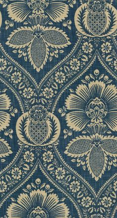 Artissimo Navy fabric by P Kaufmann - blue & ecru damask print on Navy Home Decor, Home Decor Fabric, Blue And White Fabric, Navy Fabric, Fabric Design, Pattern Design, Mismatched Furniture, Paisley, Art Chinois