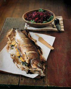 Whole Roasted Salmon with Orange Butter Glaze Recipe (Easter?)