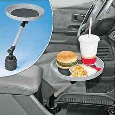 Zona Tech Suporte de montagem giratória Carro Viagem Copo De Bebida Mesa De Café Stand Bandeja de comida