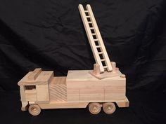 Wood toy Fire Truck by WillsWheels on Etsy