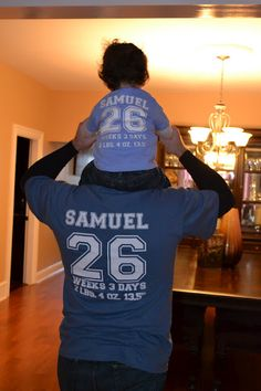 March for Babies shirts with stats on the back  @March of Dimes Love this since I am a March of Dimes advocate. Planning a walk in April. Hoping to see shirts like these. :)