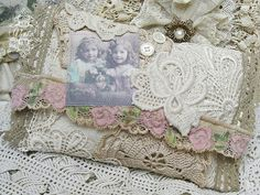 Shabby Chic Inspired.  Doily purse, using drop cloth or old linen from thrift store.