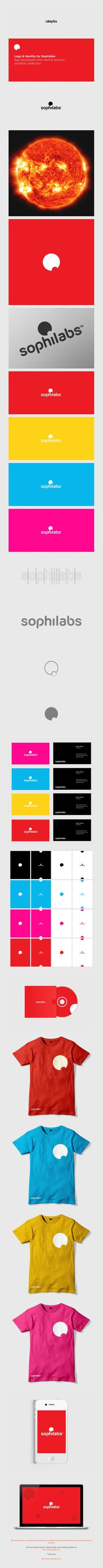 Sophilabs logo and corporate identity design by Utopia Branding Agency