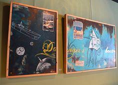 Danger's hour - Kunst aan de muur in Café Boeien Katwijk aan Zee