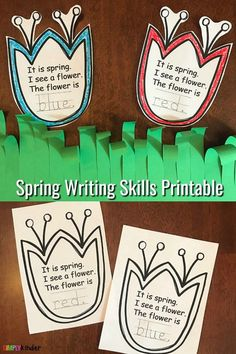 Spring Flowers Writing Activity - Simply Kinder