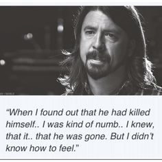Dave Grohl on when he found out about kurt Cobain