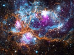 The Lobster Nebula is a diffuse nebula located about 5,500 light-years from Earth. - NASA/CXC/PSU/L. Townsley et al./UKIRT/JPL/Caltech