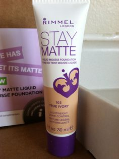 I lived this stuff!! Would love to share as a stocking stuffer! -> Rimmel London Stay Matte Mousse Foundation