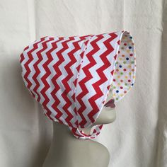 Toddler Sun Hat - BONNET - Sun Hat - Reversible Bonnet - Polka Dot Bonnet - Pink and White by 4PennyGirl on Etsy