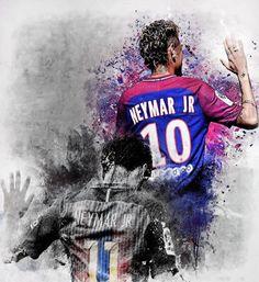 Neymar da Silva Santos Júnior, allgemein bekannt als Neymar oder Neymar Jr. Lionel Messi, Cristiano Messi, Neymar Psg, Cristiano Ronaldo Junior, Messi And Neymar, Soccer Art, Football Art, National Football Teams, Neymar Jr Wallpapers