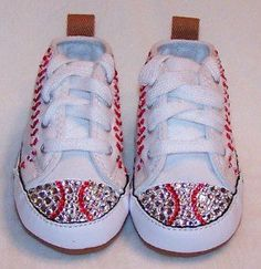 baseball shoes from montauk ny creations! Need these for baseball season! #baseballsister