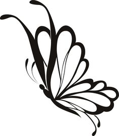 butterfly drawing side flying clipart simple sketch google line outline butterflies wall tattoo pink stencil designs tattoos sticker cliparts wings