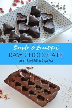 Simple and beautiful raw chocolate  recipe perfect for a guilt-free   valentinesday treat 6466073cf0df2