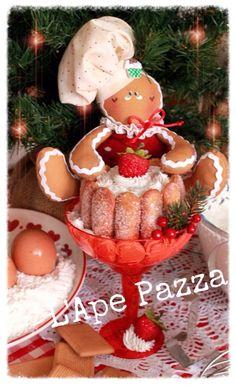 Cartamodelli ginger Natale 2015 : Cartamodello gingerina nella coppa