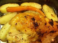 Split Breast of Chicken with roasted Carrots and Potatoes, a recipe on Food52