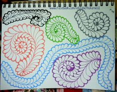 doodles from a couple machine quilting classes i took last year, teachers were Dusty Farrell & Jamie Wallen