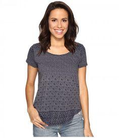 Lucky Brand - Indigo Ditsy Top (Navy Multi) Women's Clothing