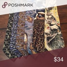Men's Animal Ties Like New! Accessories Ties