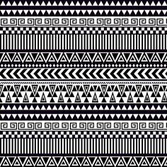 tribal fabric by binkstallion on Spoonflower - custom fabric. (to sew onto jeans pockets?)