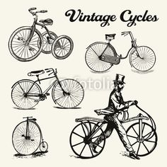 Buy this vector graphic on Fotolia (extended license for commercial use)    #vintage #bycicle #cycle #bike #old #retro
