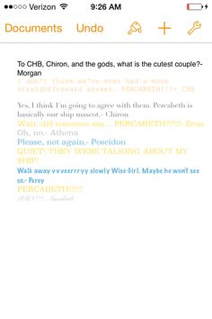 "Run, Percabeth, run!!! (Also, does anyone know why these ""ask the demigods"" things always end up with some running???)"