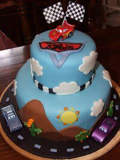 The cars birthday cake