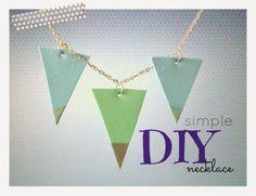 Bebaty: DIY simple necklace Simple Necklace, Arrow Necklace, Easy Diy, Jewelry, Jewlery, Jewerly, Schmuck, Jewels, Jewelery