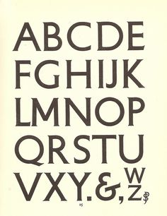 Petit-serif typeface designed by Percy Smith for use by the London Underground Group - 1929