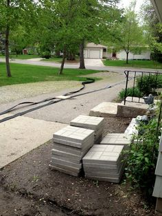 Edging and pavers for our most recent project~May 2013