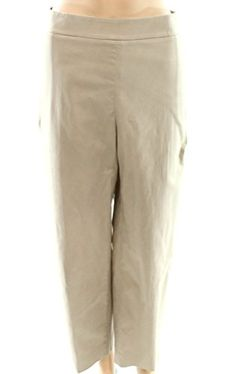 Womens Solid Cropped Side-Zip Stretch Pants Beige 12 Autumn Fashion Casual, Stretch Pants, Stretches, Khaki Pants, Beige, Zip, Women, Khakis, Ash Beige