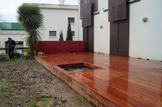 Terrasse en bois CUMARU avec fixations invisibles HAPAX.