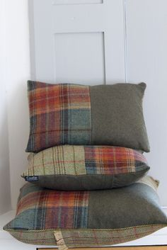 Couthie handmade tweed cushions.