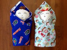 Free swaddle baby doll sewing pattern