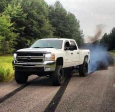 Lifted White Silverado 2500
