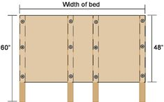 DIY headboard using many of the tips seen here. By pushing the bed up close against the headboard, you can avoid having to screw it to the wall. Furniture Projects, Home Projects, Diy Furniture, Painted Furniture, Home Bedroom, Bedroom Decor, Master Bedroom, Diy Headboards, Headboard Ideas