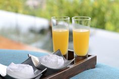 Farewell drink for Four Seasons Resort Koh Samui guests - Passion Fruit and Ginger. #FSTaste #TastesofThailand