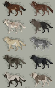 Semi-Realistic Wolf Adoptables Set 10 - CLOSED by Therbis on DeviantArt
