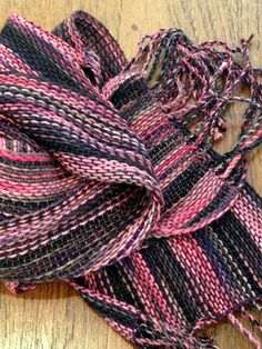 Handwoven Multicolor Scarf - Coral and Olive Tone - Merino Wool and Cotton FREE…