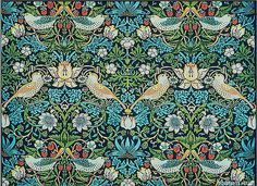 'Strawberry Thief' (design registered 1883, printed 1917–23) by William Morris ( 1834–1896) for Morris and Company.