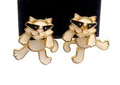 EDGAR BEREBI Earrings Cool Cat EarringsCream by GimmeeDatBling