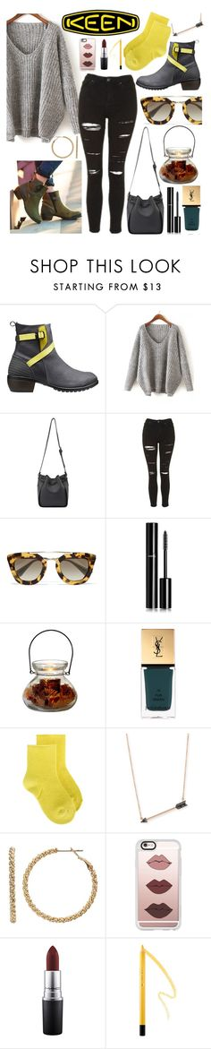 """""""So Fresh and So Keen: Contest Entry"""" by gina-cremont ❤ liked on Polyvore featuring Keen Footwear, Topshop, Prada, Chanel, Yves Saint Laurent, Erika Cavallini Semi-Couture, Sydney Evan, Juicy Couture, Casetify and MAC Cosmetics"""