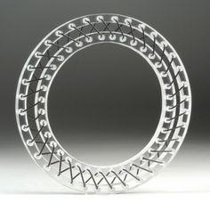 Suspension Bracelet, Sci Fi Plastic Bangle, Futurist Bracelet