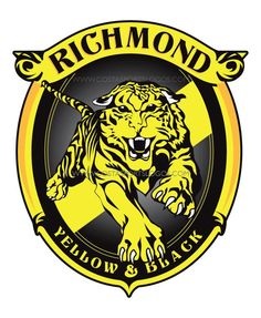 I had a go at a new logo for the Tiges. something based on the classic rampaging tiger logo of the and The current severed head logo to me feels a. Richmond Afl, Richmond Football Club, Football Team Logos, Sport Football, Soccer, Australian Football, Tiger Logo, Art Logo, Retro