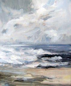 Ocean Reflection #2 - Original Oil Painting
